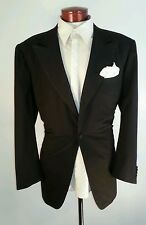 A1 Kiton for Wilkes Bashford Made in Italy Men Black Tuxedo Size 46 1 Button