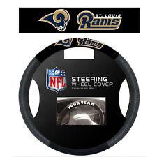 NFL POLY-SUEDE MESH STEERING WHEEL COVER ST. LOUIS RAMS