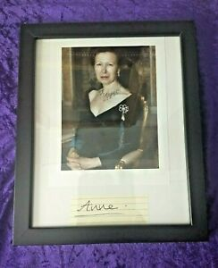 Scarce 2006 Signature/Autograph with COA of Princess Anne whilst in New Zealand