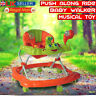 New Baby Walker Push Along Ride Musical Toy First Steps Bouncer Activity Melody