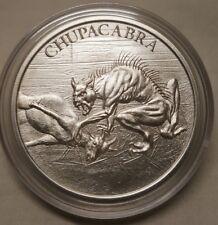 1oz Chupacabra .999 Fine Silver Round Coin Puerto Rico Folklore The Goat Sucker