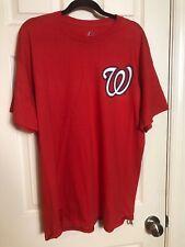 Majestic Washington Nationals Bryce Harper 34 Red T Shirt Size XL Stitch Look