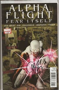 ALPHA FLIGHT #1 SIGNED BY GREG PAK WITH DYNAMIC FORCES COA