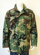 Vintage Military Us Army Woodland Camo M-65 Field Jacket size Medium Regular