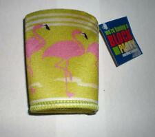 Tropical Summer Pink Flamingo Lime Green Drink Koozie Huggie Coolie Christmas