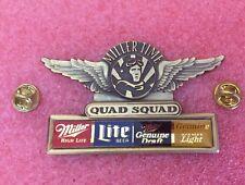 Pins BIERE MILLER TIME Quad Squad High Life Lite Beer Genuine Draft Aviateur