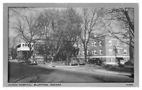 1940s/50s Clinic Hospital, Bluffton, IN Postcard *5A