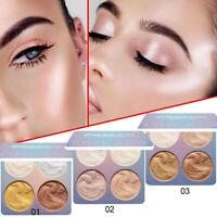 Professional New Makeup Face Powder 4 Colors Bronzer Highlighter Powder Palette