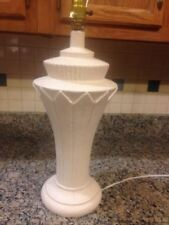 Vintage Plaster? Chalk Ware? Neoclassical Style Table Lamp Light.
