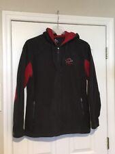 Arkansas Razorbacks COLOSSEUM Grey/Dark Red Fleece, Zipper, Hoodie Jacket. Large