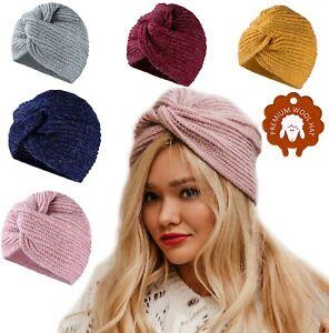 Women Ladies Fashion Twist Muslim Hijab Turban Mohair Wool  Hat Head Chemo Cap