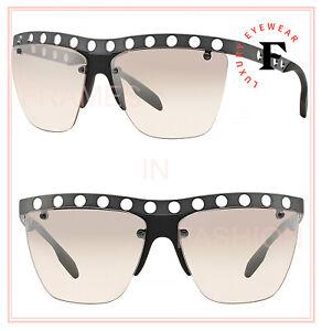 PRADA MACHINE PR53RS Gunmetal Silver Mirrored Military Sunglasses Perforated 53R