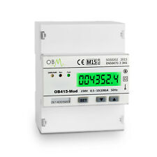 OB415-Mod Single Phase 100A MID Modbus kWh Electricity Solar PV Meter