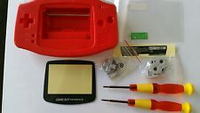 CARCASA COMPLETA+PANTALLA COMPATIBLE GAME BOY ADVANCE RED NEW/NUEVO