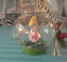 Disney Parks Alice in Wonderland Teapot Glass Christmas Ornament NWT Prof SHIP