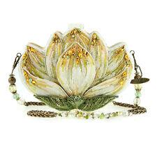 Mary Frances Revival Lotus Blossom White Handbag Beaded Bag New