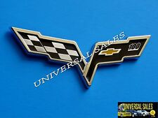 100 CORVETTE C6 CHECKERED FLAG EMBLEM BADGE 2012 ANNIVERSARY 05-13 FRONT NEW