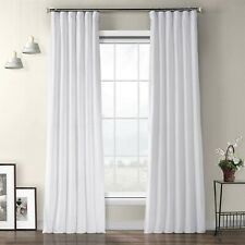 New ListingHpd Half Price Drapes Vpyc-161201-108 Plush Velvet Curtain 50 X 108 Pillow White