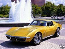 1972 Chevrolet CORVETTE, GOLD, Refrigerator Magnet,40 MIL