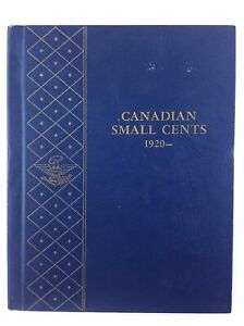 Canadian Small Cents 1920 to Date Whitman Blue No. 9501 Empty Coin Book T580