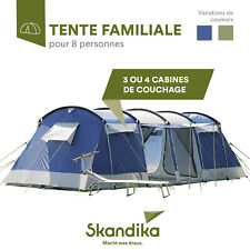 SKANDIKA MONTANA 8 TENTE CAMPING FAMILLE/GROUPE 8 PERS. 700x280CM NEUVE