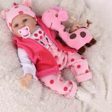 16'' Reborn Baby Dolls Realistic Vinyl Silicone Newborn Girl Doll Handmade Gifts