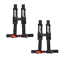 "PRP 4 Point Harness 3"" Pads Seat Belt PAIR Black Polaris RZR XP Turbo 1000"