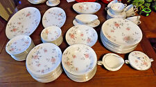 77 Pc Set Noritake BOTAN #5853 10 Seven Pc Settings Plus Serving Pcs.