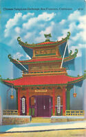 Linen Postcard CA B590 Chinese Telephone Exchange San Francisco Chinatown
