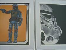 Original Nerd block star wars framed prints 10by8 Stormtrooper bobo fett