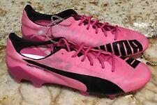 PUMA evoSpeed SL Pink Black Ultra Lightweight FG Soccer Cleats Mens 8.5 10