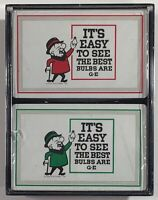Mr Magoo GE Bulbs General Electric Ad Cartoon Playing Cards 2-Deck Sealed Set