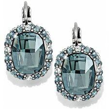 Earrings Msrp $78 Mom Prom Wedding Nwt Brighton Contessa Blue Crystal Leverback