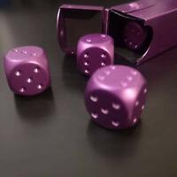 5x Würfel Metall Lila Pink Poker Kniffel Magie Zauber Glück Box schwer Spiel