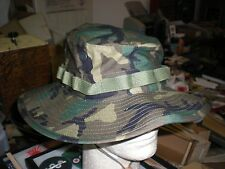 US ARMY WOODLAND  BDU CAMO BOONIE HAT - NEW PRODUCTION - SIZE 7 3/4 - US MADE.