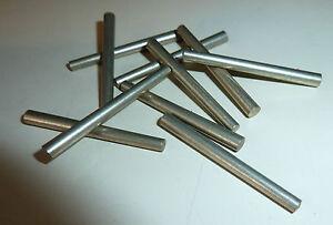 10x Stahlstift, konisch; 3-4 x 40mm; Stahl- Stift Stahlstifte; Spannstift