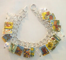 TAROT CARDS BRACELET FORTUNE TELLER  CHARMS FREE TO SWITCH OUT CARD CHARMS CLEAR