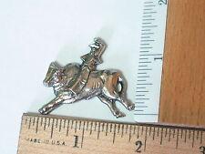 Rodeo Man Riding Bull Pin Badge