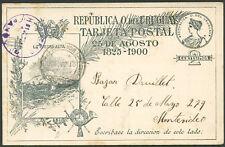 URUGUAY PANDO Cancel on Postal Stationery 1901