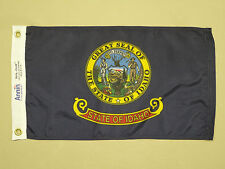 "Idaho State Indoor Outdoor Dyed Nylon Boat Flag Grommets 12"" X 18"""