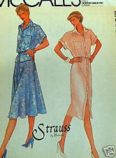 80s dress pattern sz 8 B31.5 top skirt uncut flutter