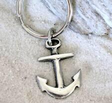 NAVY SHIP ANCHOR SAILOR CHRISTIAN Pewter KEY CHAIN Ring