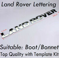Chrome Lettering For LAND ROVER Badge Front Bonnet Boot Tailgate Rear (56)