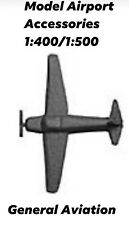 Model Airport Accessories 1:400/1:500 General Aviation Propeller Aircraft Silver