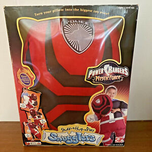 POWER RANGERS Mystic Force SNUGGLERS Red Pillowcase Hug Cuddle Buddy Cover Toy