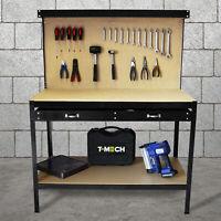 Werkbank mit Lochwand Werktisch Arbeitstisch Arbeitsplatte Werkstatt Schwarz