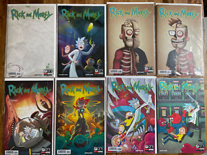 Rick and Morty #1 Extremely Rare Comic Variant Cover Lot + Roiland & Harmon # 50