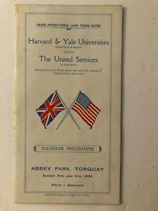 1924 Harvard & Yale Universities vs The United Services Tennis Program