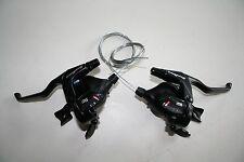 Sunrace STM 500 Schalt-Bremshebel Set 3 x 8 für Shimano Rapidfire 24 gang Neu