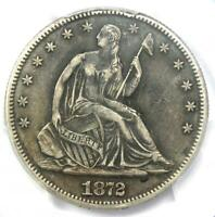 1872-CC Seated Liberty Half Dollar 50C Coin - Certified PCGS XF Details (EF)!